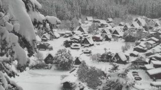 白川郷合掌造り集落 ライブカメラと雨雲レーダー/岐阜県白川村
