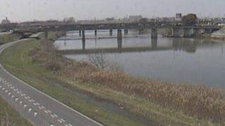 庄内川・枇杷島橋上流ライブカメラと雨雲レーダー/愛知県名古屋市西区枇杷島