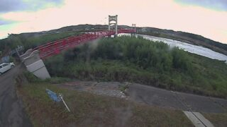 高津川・飯田橋ライブカメラと雨雲レーダー/島根県益田市須子町