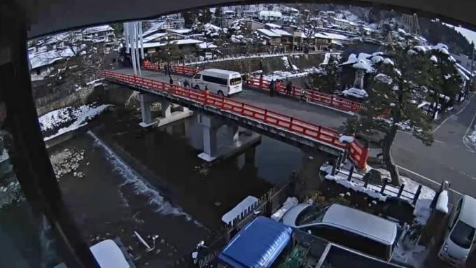 飛騨高山 宮川(中橋) ライブカメラと雨雲レーダー/岐阜県高山市
