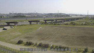 多摩川 ライブカメラ(中央自動車道上流)・河川水位と雨雲レーダー/東京都国立市