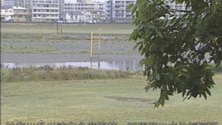 多摩川 ライブカメラ(石原第二水位観測所)・河川水位と雨雲レーダー/神奈川県川崎市