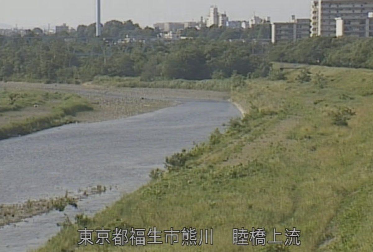 多摩川 ライブカメラ(睦橋上流)・雨量と雨雲レーダー/東京都福生市