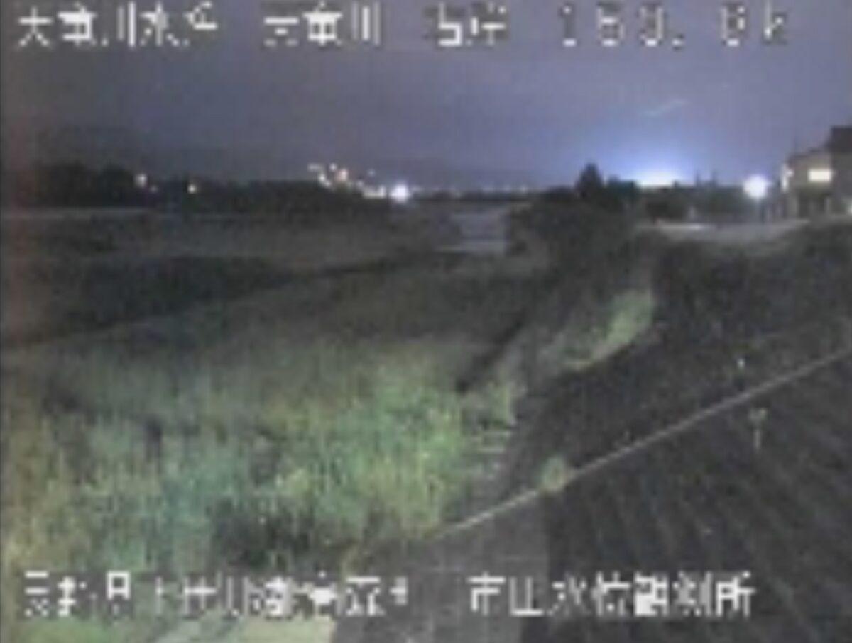 天竜川・市田水位観測所ライブカメラと雨雲レーダー/長野県高森町下市田