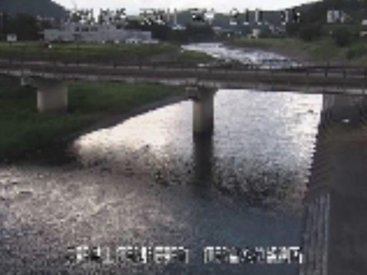 天竜川・伊那富水位観測所ライブカメラと雨雲レーダー/長野県辰野町樋口