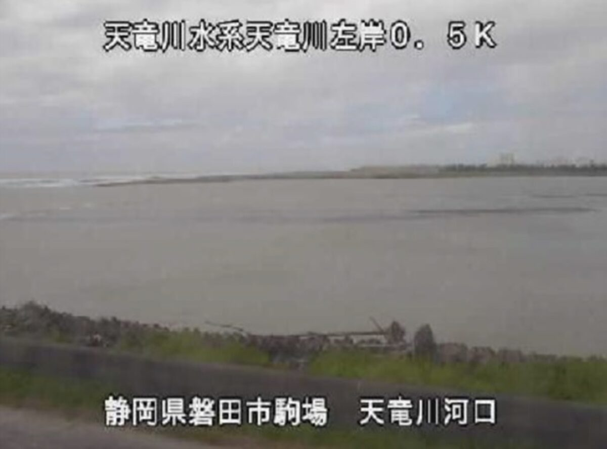 天竜川河口ライブカメラと雨雲レーダー/静岡県磐田市駒場