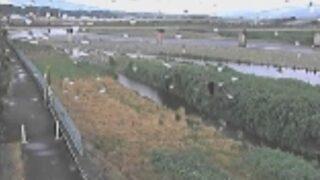 天竜川・沢渡水位観測所ライブカメラと雨雲レーダー/長野県伊那市