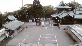 停止中:遠石八幡宮 ライブカメラと雨雲レーダー/山口県周南市