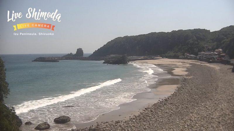 田牛海水浴場(田牛ビーチ) ライブカメラと雨雲レーダー/静岡県下田市