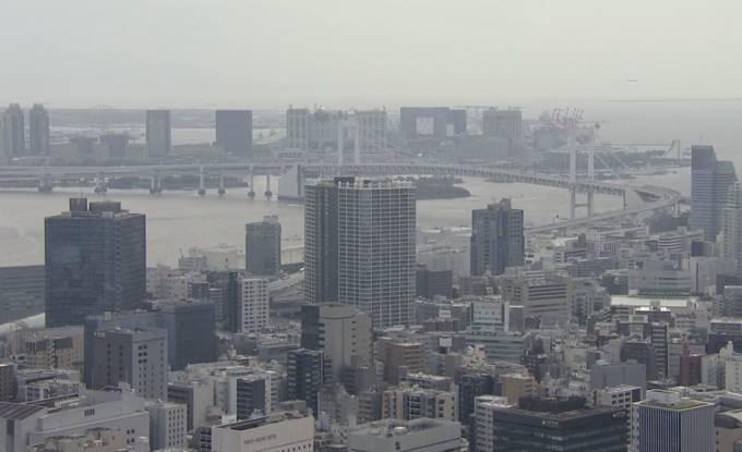 東京都港区 東京タワーから見える東京の街並みライブカメラと雨雲レーダー