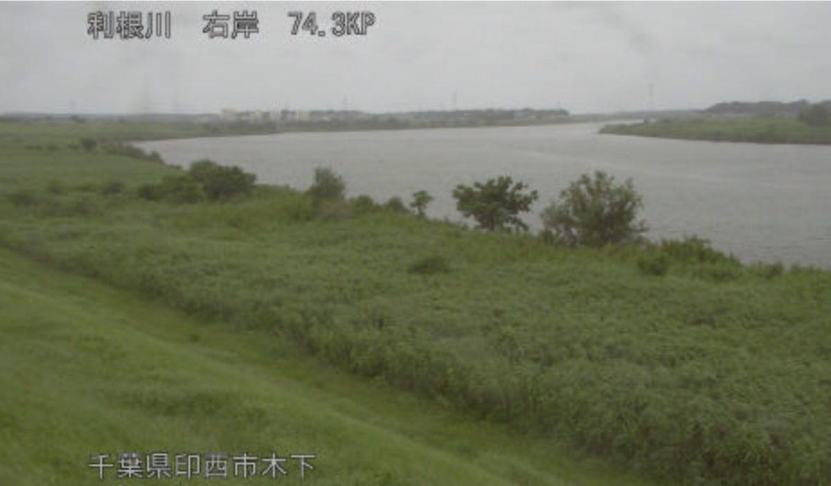 利根川 ライブカメラ(木下)と雨雲レーダー/千葉県印西市