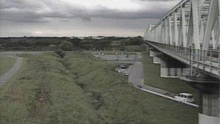 利根川 ライブカメラ(新町樋管)と雨雲レーダー/茨城県取手市