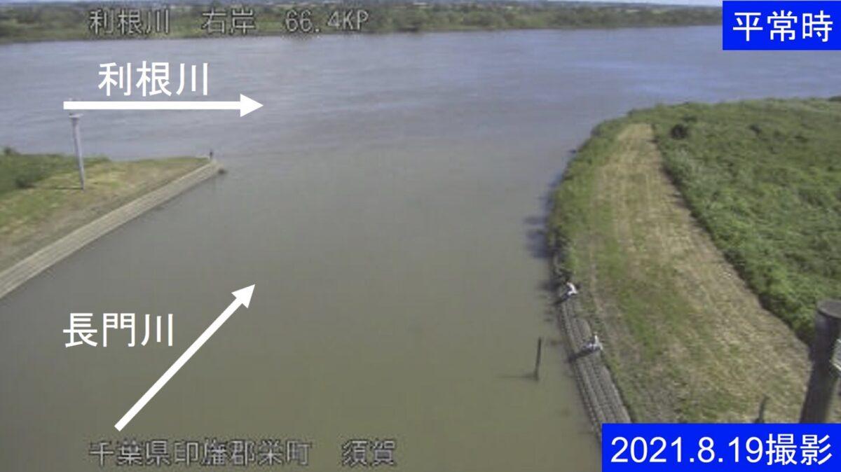 利根川・須賀ライブカメラと雨雲レーダー/千葉県印旛郡栄町