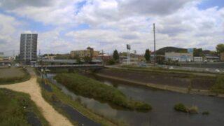 坪井川・高平橋ライブカメラと雨雲レーダー/熊本県熊本市北区