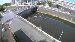 坪井川・山室橋ライブカメラと雨雲レーダー/熊本県熊本市北区