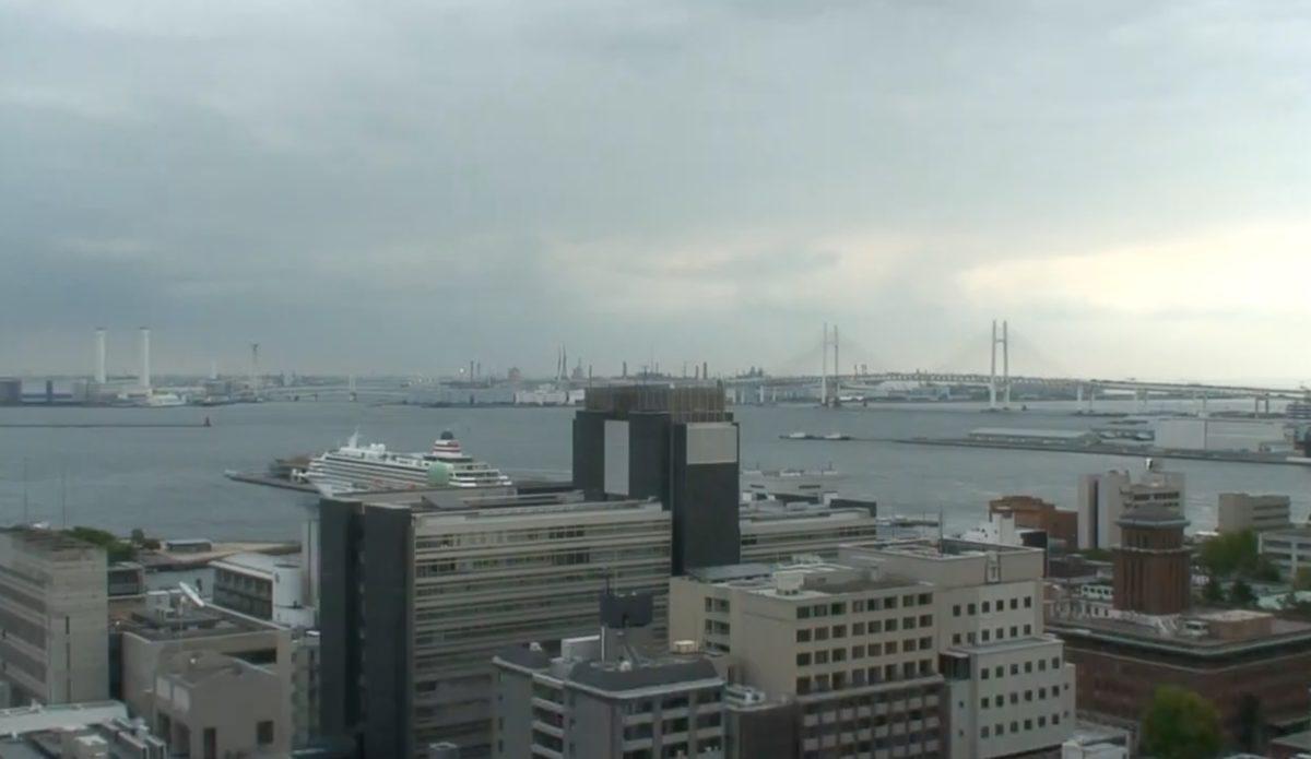 停止中:横浜港・横浜ベイブリッジ ライブカメラ(テレビ神奈川)と雨雲レーダー/神奈川県横浜市