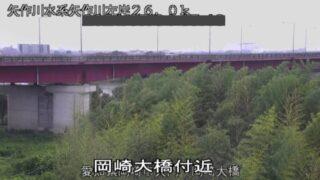 矢作川・岡崎大橋ライブカメラと雨雲レーダー/愛知県岡崎市
