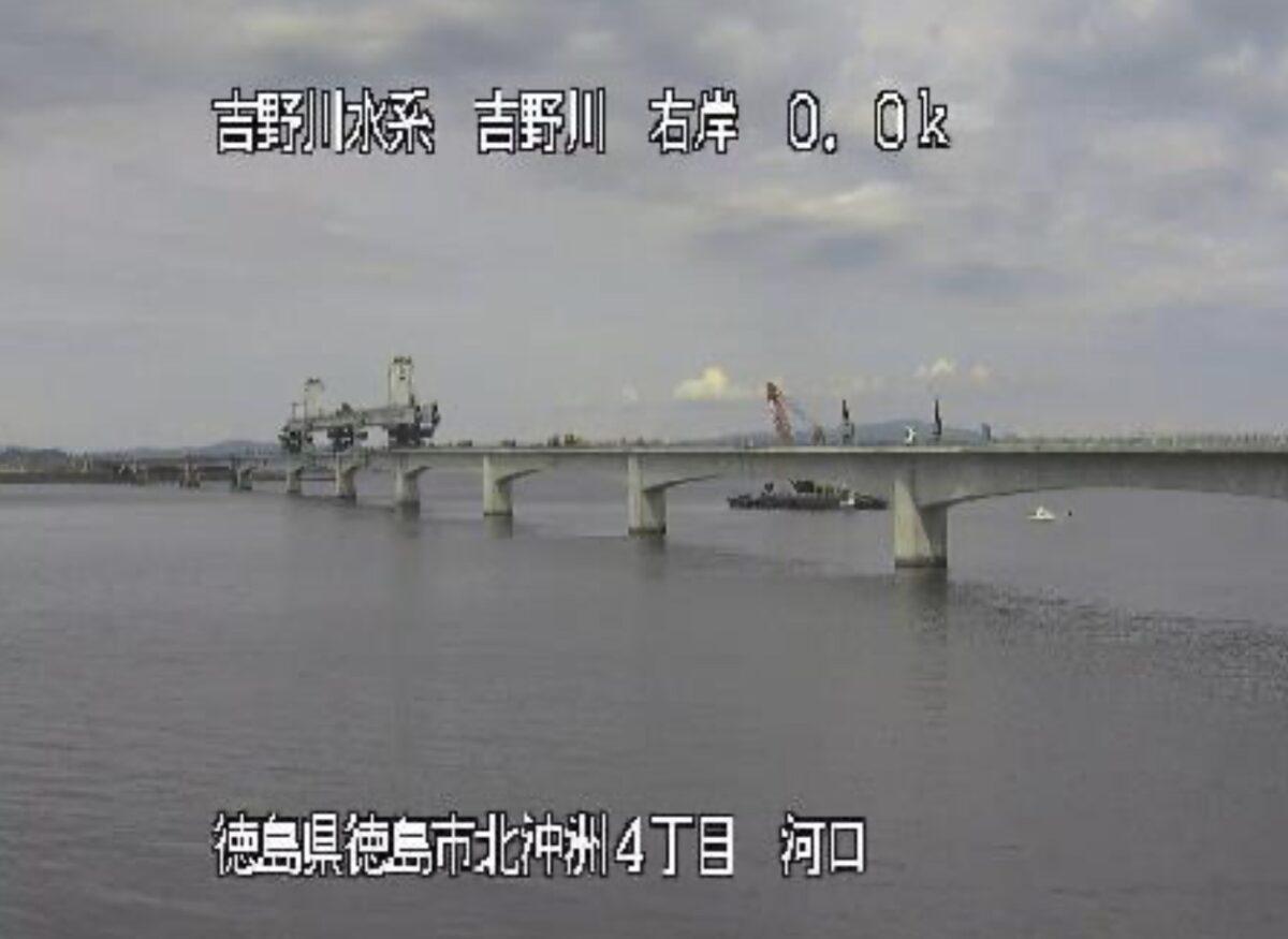 吉野川河口ライブカメラと雨雲レーダー/徳島県徳島市北沖洲