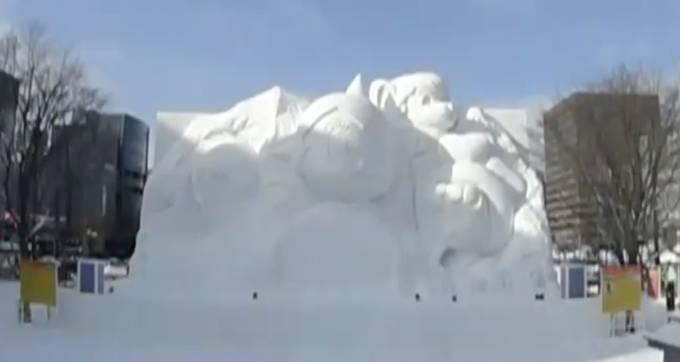 さっぽろ雪まつり  大通10丁目会場『UHBファミリーランド』ライブカメラと雨雲レーダー/北海道札幌市