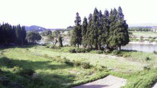 最上川 ライブカメラ(黒滝)と雨雲レーダー/山形県大石田町