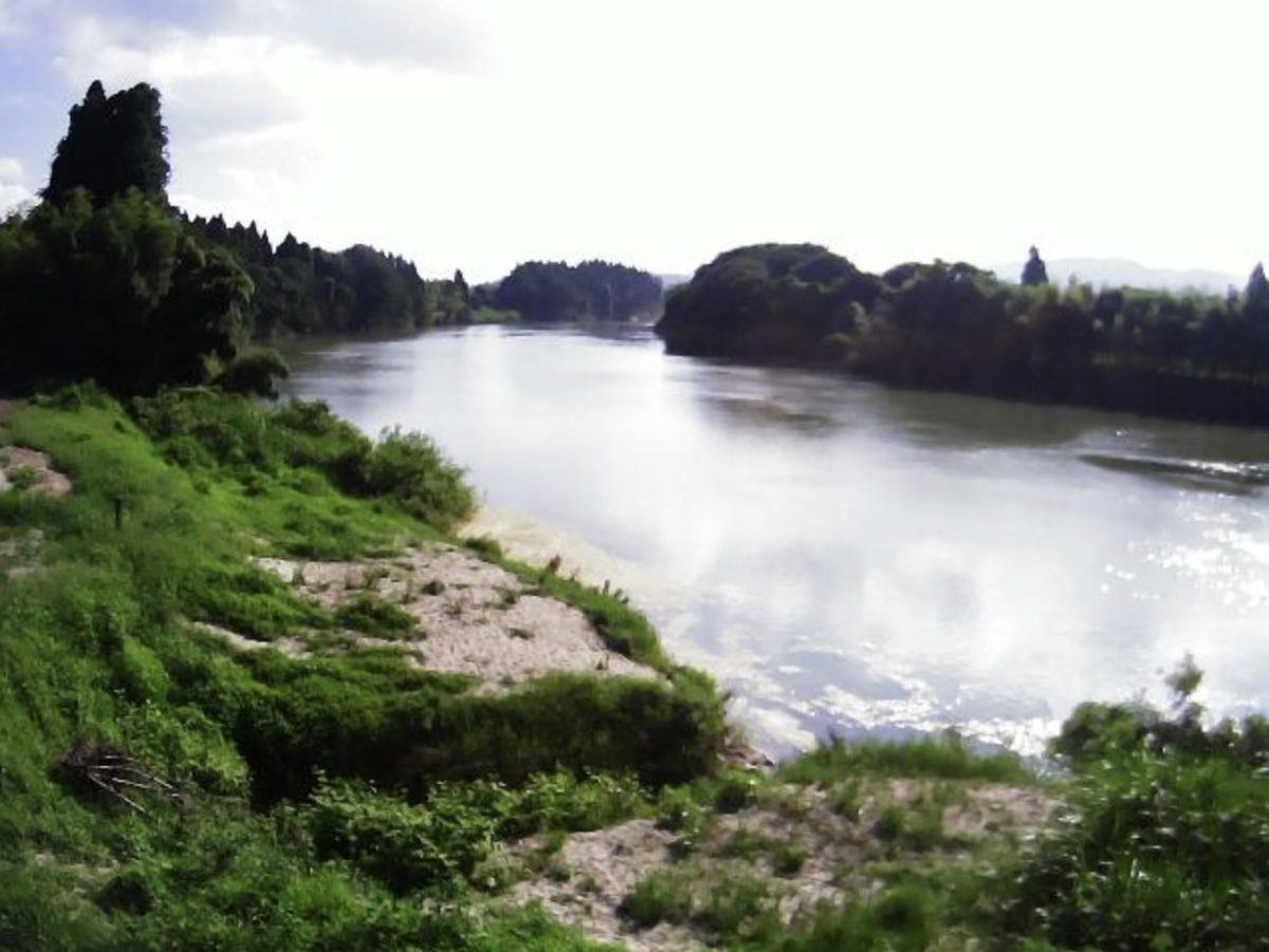 最上川 ライブカメラ(大淀)と雨雲レーダー/山形県村山市