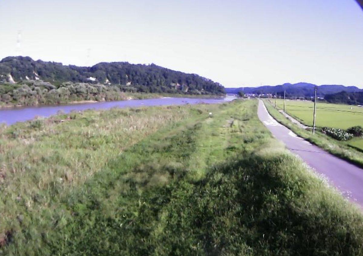 最上川 ライブカメラ(白須賀)と雨雲レーダー/山形県大蔵村
