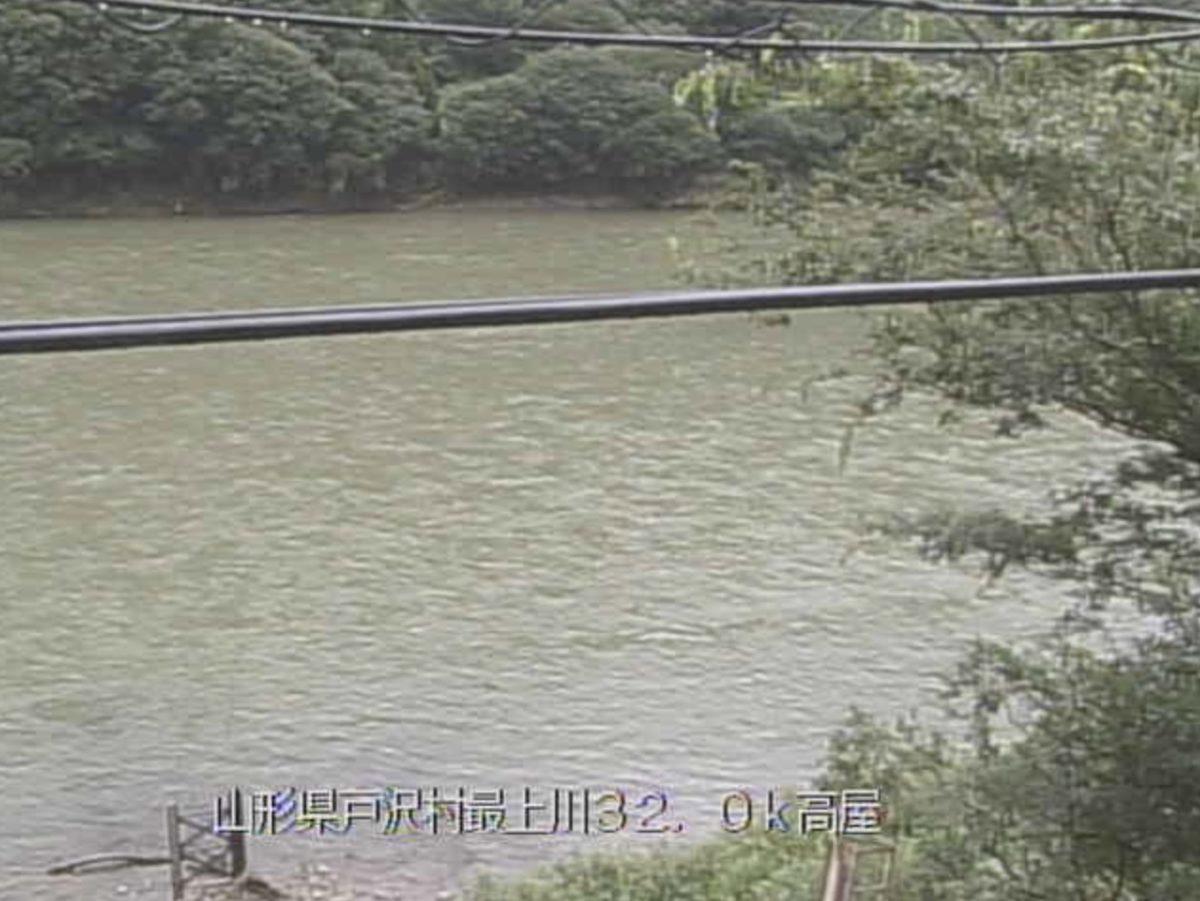 最上川 ライブカメラ(高屋)と雨雲レーダー/山形県戸沢村