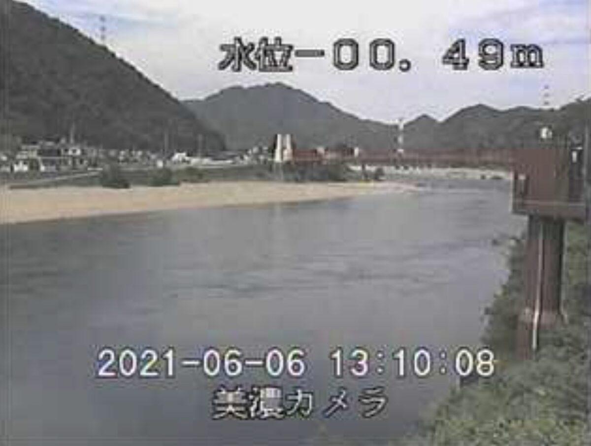 長良川・美濃橋ライブカメラと雨雲レーダー/岐阜県美濃市