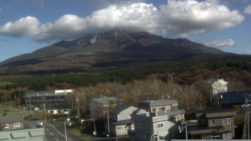 北海道利尻町 利尻山 ライブカメラと雨雲レーダー