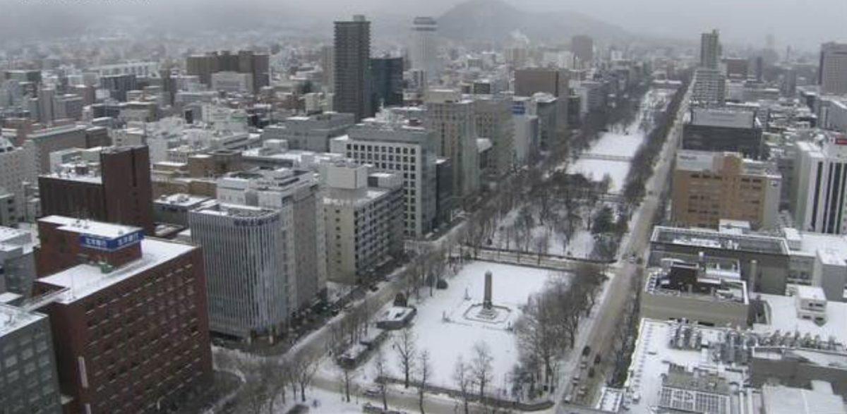 大通公園 ライブカメラ(HBC)と雨雲レーダー/北海道札幌市