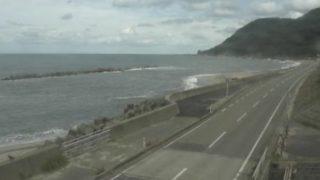 国道345号・笹川流れ ライブカメラと雨雲レーダー/新潟県村上市