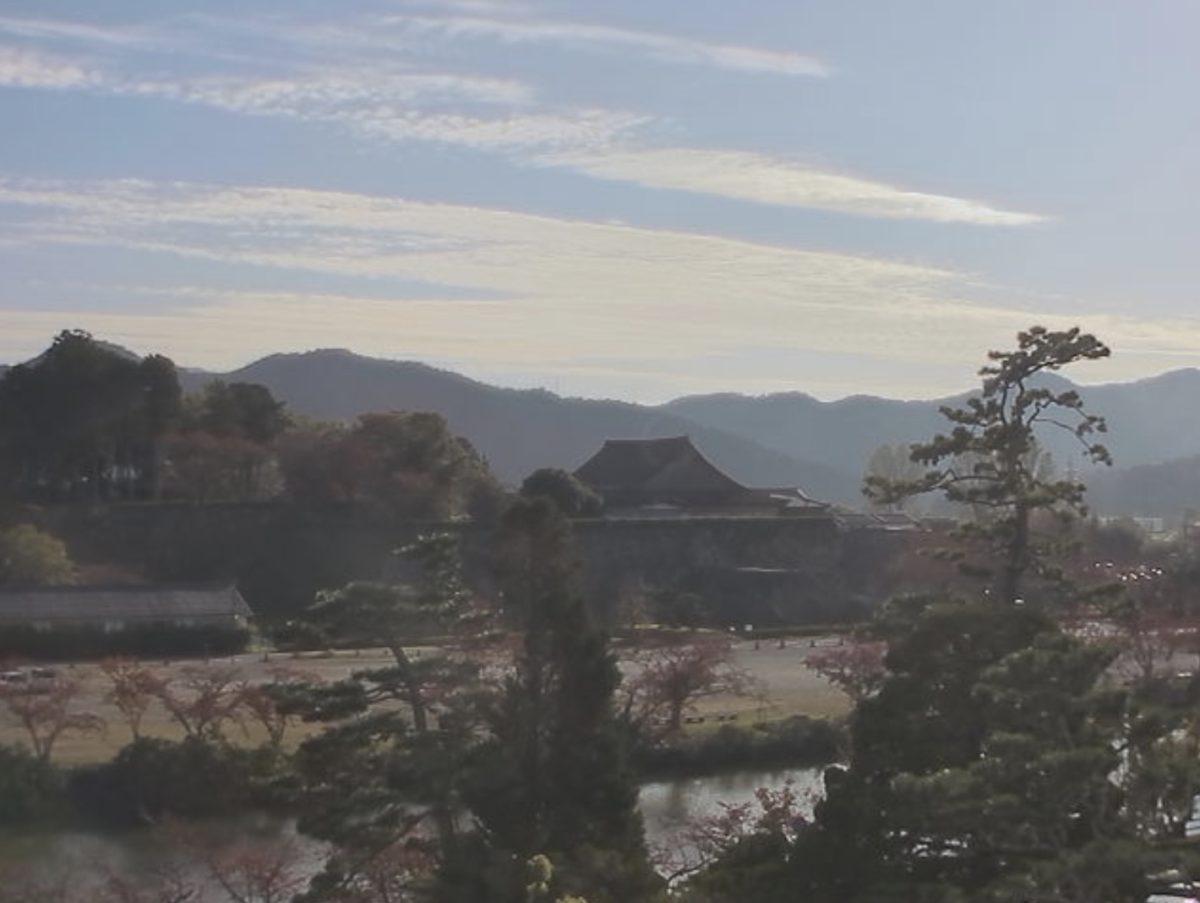 篠山城 ライブカメラと雨雲レーダー/兵庫県篠山市