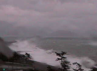 停止中:三重県御浜町 七里御浜ライブカメラと雨雲レーダー
