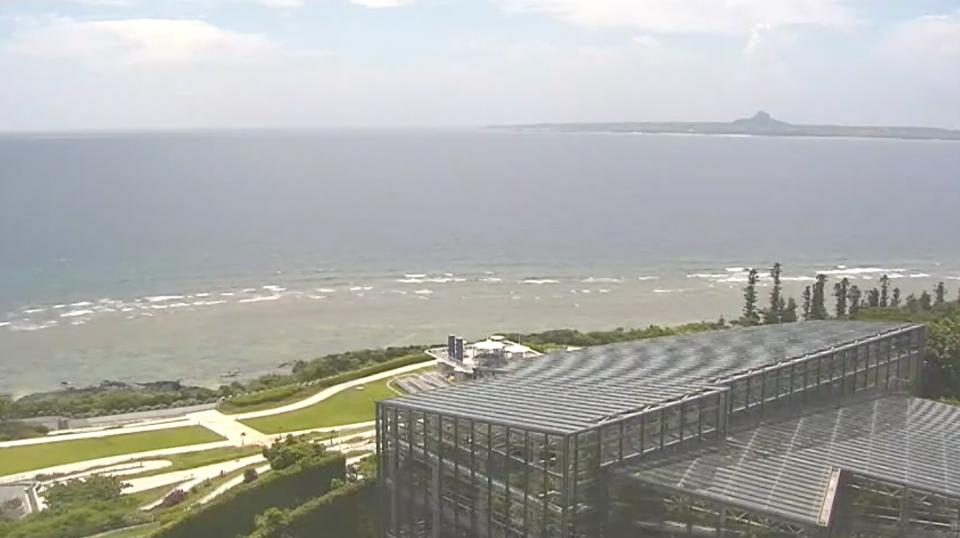 海洋博公園ライブカメラと雨雲レーダー/沖縄県本部町