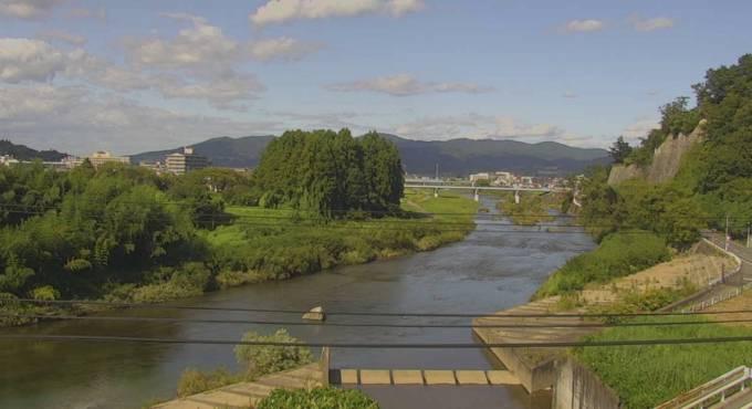 磐井川ライブカメラと雨雲レーダー/岩手県一関市