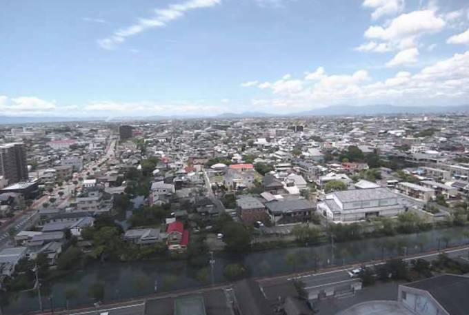 柳川市街・掘割ライブカメラと雨雲レーダー/福岡県柳川市