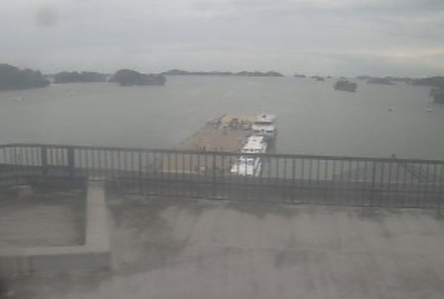 松島湾 ライブカメラ(中央観光桟橋)と雨雲レーダー/宮城県松島町