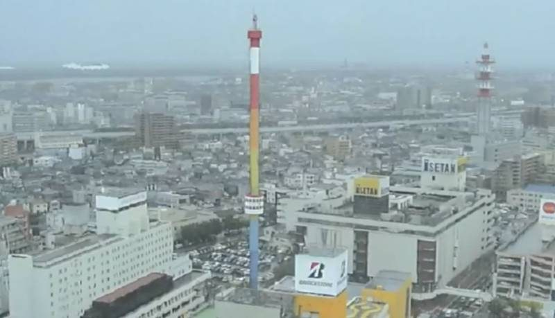解体が進むレインボータワー ライブカメラと雨雲レーダー/新潟県新潟市中央区