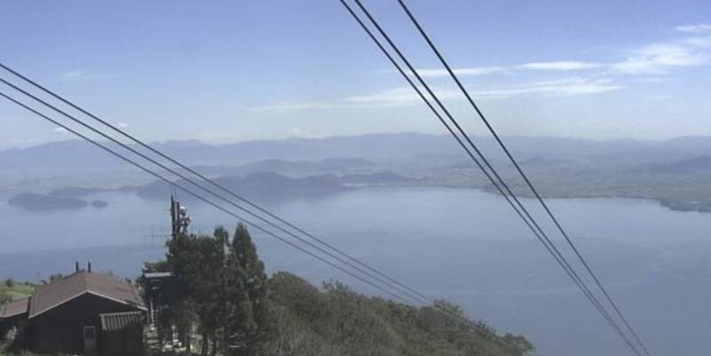 打見山から見える琵琶湖ライブカメラと雨雲レーダー/滋賀県大津市