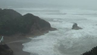 台風24号 みなべ町 特設ライブカメラ(ウェザーニュース)と雨雲レーダー/和歌山県北部