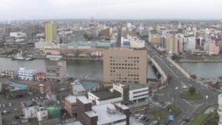 釧路(釧路川・幣舞橋) ライブカメラ(HBC)と雨雲レーダー/北海道釧路市