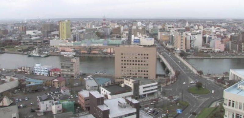 釧路(釧路川・幣舞橋) ライブカメラ(HBC)と雨雲レーダー/北海道 ...