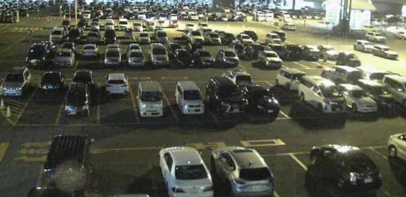 停止中:新千歳空港駐車場 ライブカメラと雨雲レーダー/北海道千歳市