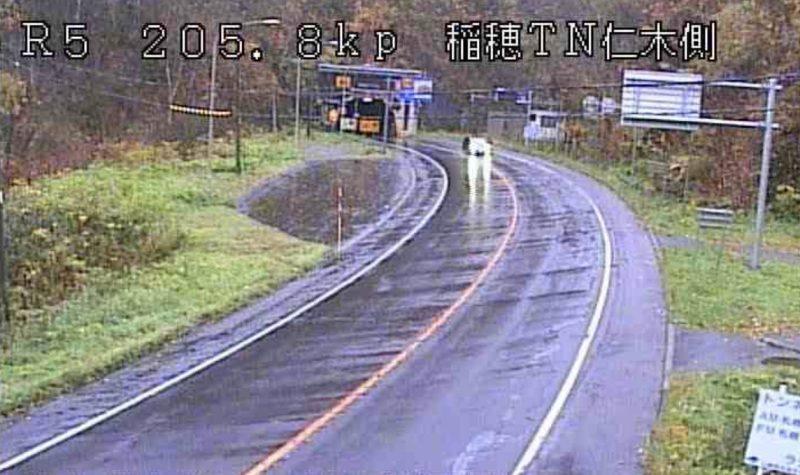 稲穂峠 ライブカメラ(国道5号)(HBC)と雨雲レーダー/北海道仁木町