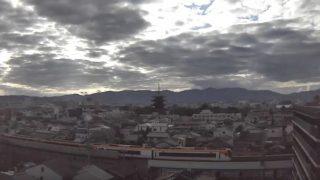 東寺 五重搭 ライブカメラ(京都プラザホテル)と雨雲レーダー/京都府京都市