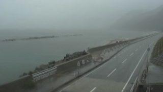 国道345号 村上市寒川 ライブカメラと気象レーダー/新潟県村上市