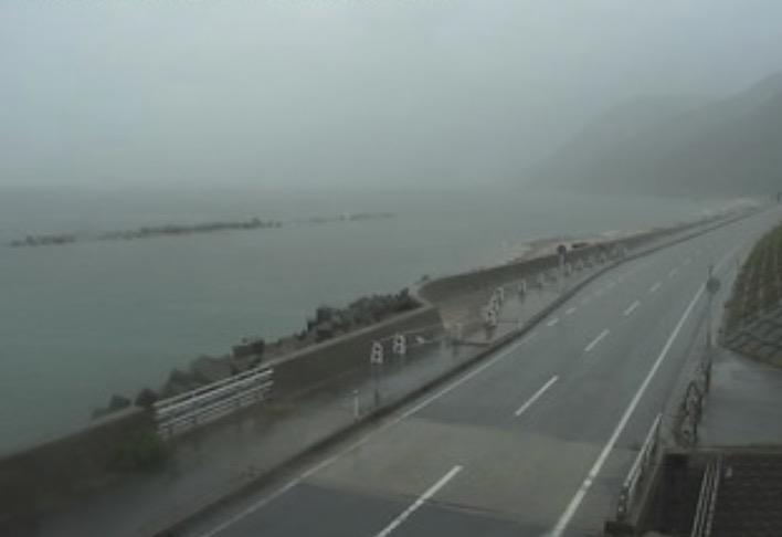 国道345号 村上市寒川 ライブカメラと雨雲レーダー/新潟県村上市