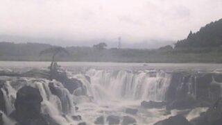 川内川・曽木の滝ライブカメラと雨雲レーダー/鹿児島県伊佐市大口針持