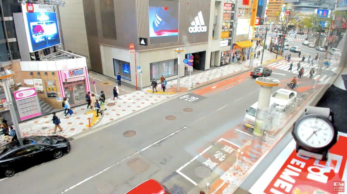 渋谷109前交差点 ライブカメラと雨雲レーダー/東京都渋谷区