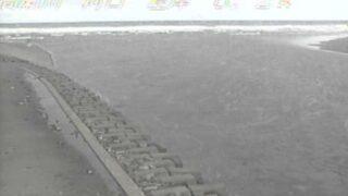 高瀬川河口ライブカメラと雨雲レーダー/青森県六ヶ所村平沼
